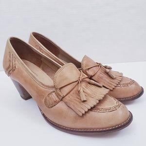 Vintage Nanette Originals Heeled Tan Loafer Sz10